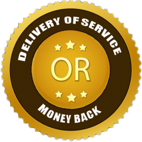100% Delivery of Service or Money Back
