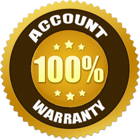 100% Account Warranty
