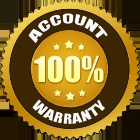 100% Account Warranty