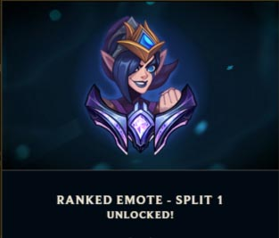 ranked emote split reward